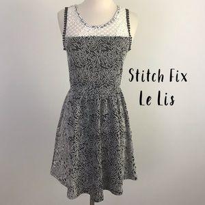 Stitch Fix Le Lis Black & White Floral Dress XS